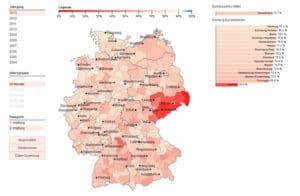 VacMap - Masern Impfquoten in Deutschland