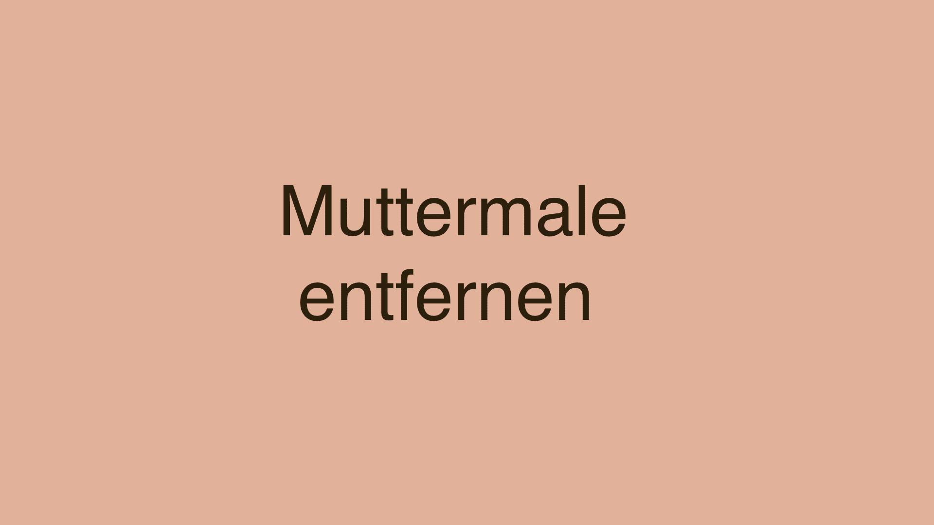 Muttermale: Arten, Behandlung und Entfernung
