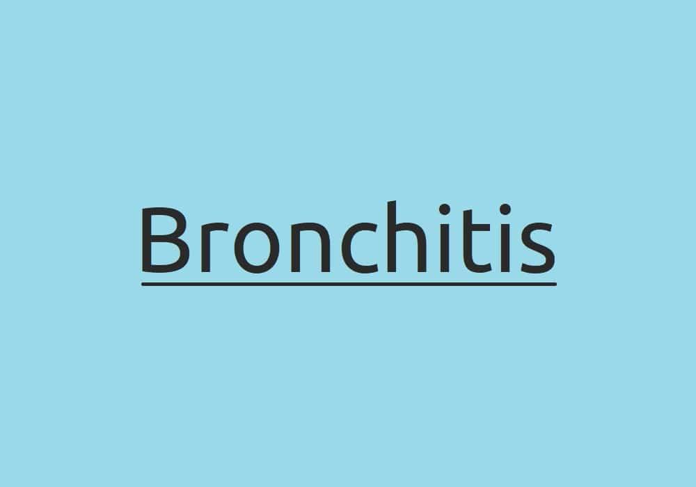 Bronchitis Symptome Ursachen und Behandlung