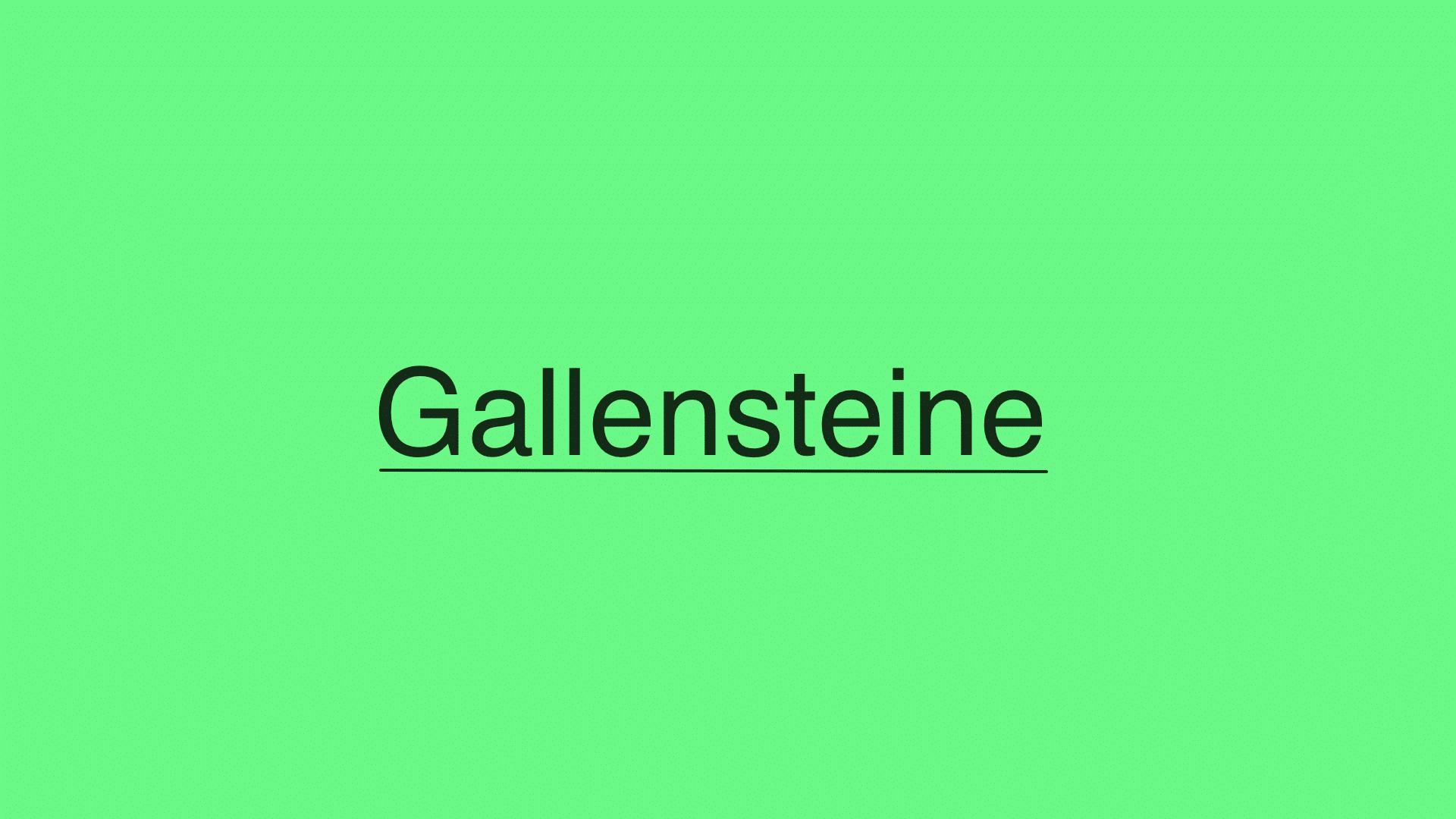 Gallensteine: Symptome, Diagnose, Komplikationen und Behandlung