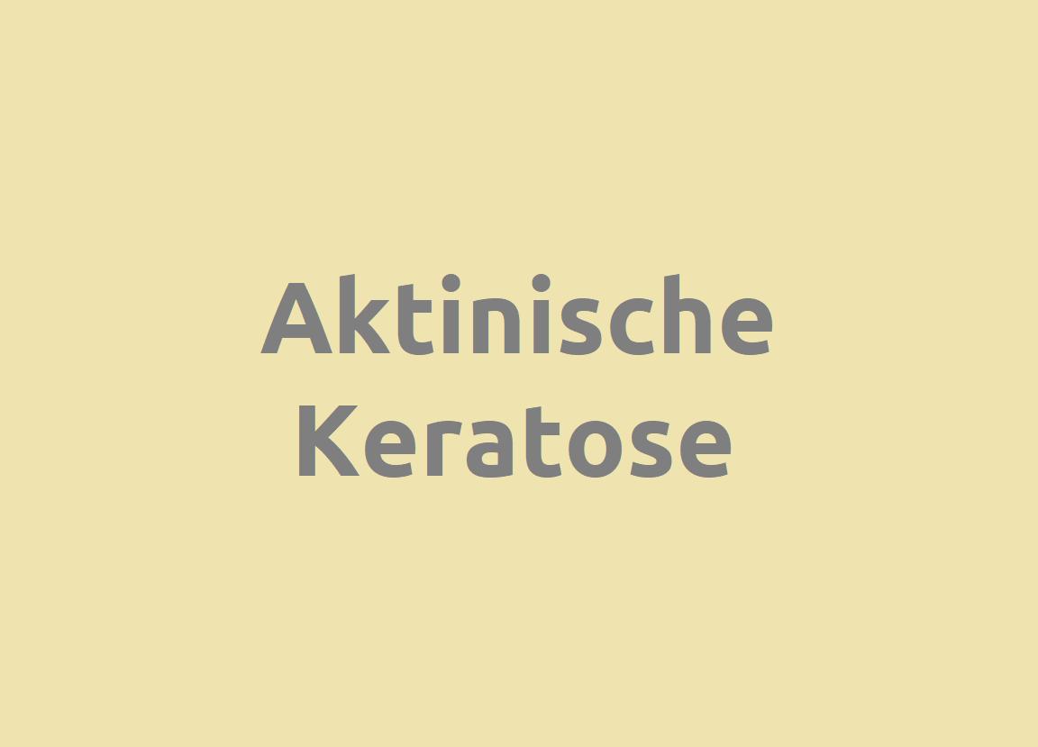 Aktinische Keratose Diagnose und Behandlung